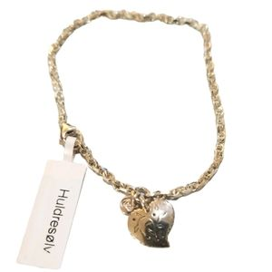 SS925 Heart Charm Bracelet New! 7.5 inches